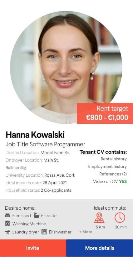 Tenant CV example